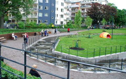 Nybyggd park med unik fiskväg kan vinna pris