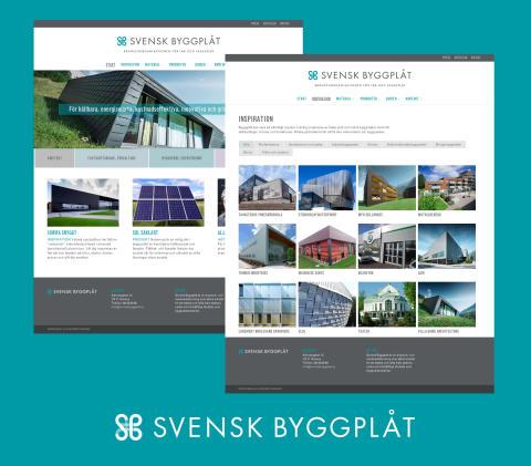 Svensk Byggplåts nya hemsida