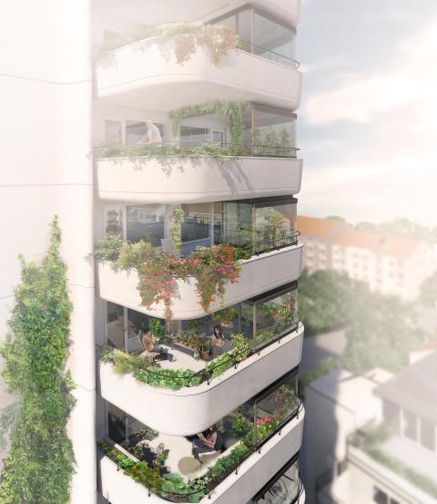 Greenhouse Augustenborg, balkongbild