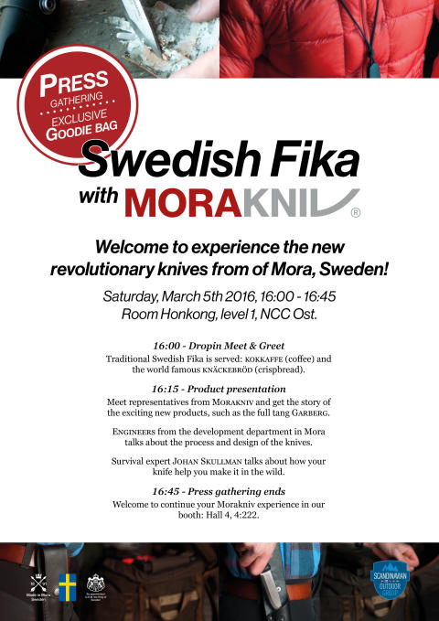 Invite: Swedish Fika with Morakniv