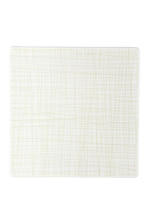 R_Mesh_Line Cream_Plate 31 cm square flat