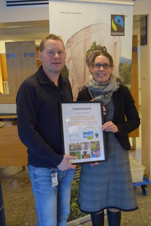 Västmanland diplomeras som första Fairtrade region