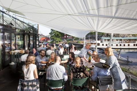 Slipens uteservering – the Slip terrace