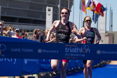 Lucy Hall wins Discovery Triathlon World Cup Cape Town women's elite by tenth of second