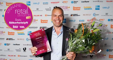 Johan Hagelin 365id, Stolt vinnare av priset Årets säkerhetslyft Retail Awards 2016
