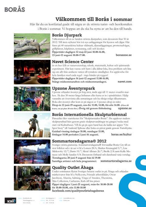 Informationsblad - SommarBorås 2012