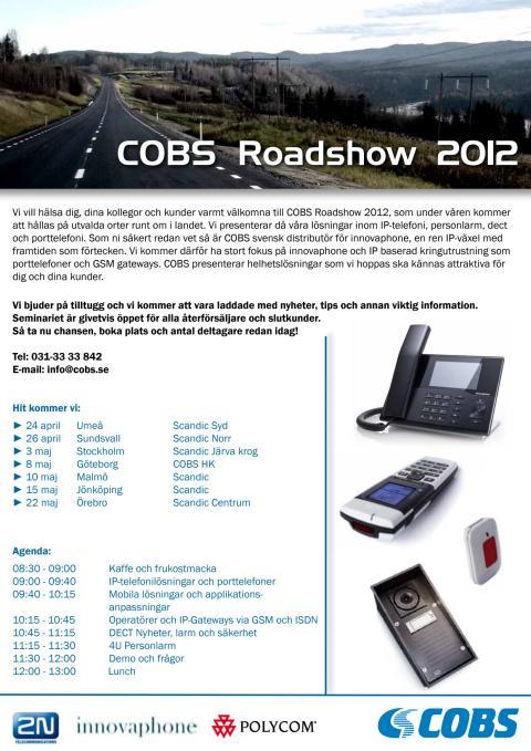 COBS Roadshow 2012