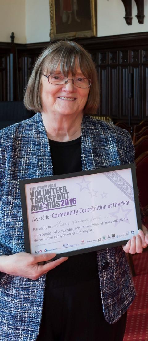 Volunteer transport award