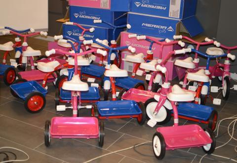 Barngirot - Rulla på två eller tre hjul