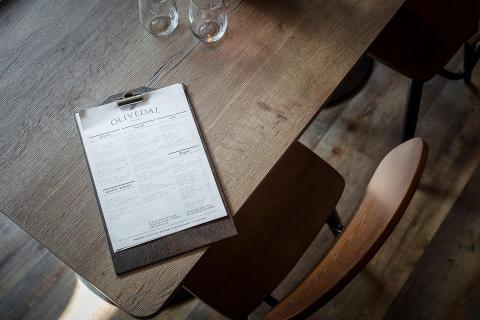 Meny restaurang Olivedal