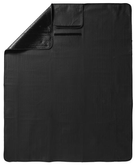 City picknickpläd 130 x 170 cm, svart