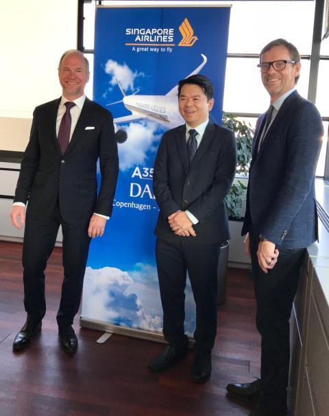 Joint Venture mellan SIA & SAS offentliggör 40% ökning på CPH. GM Erwin Widjaja, SIA, CEO Thomas Woldbye, CPH, Head of Sales Anders Wahlström, SAS