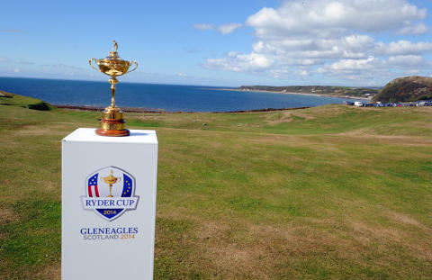 Ryder Cup Trophy visits St Medan Golf Club