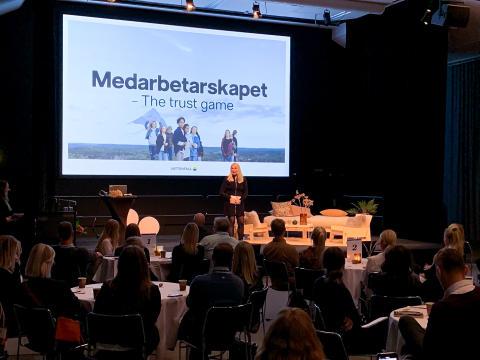 Caroline Häggström, vd Vattenfall Kundservice Norden, föreläste på Nolia Ledarskap.