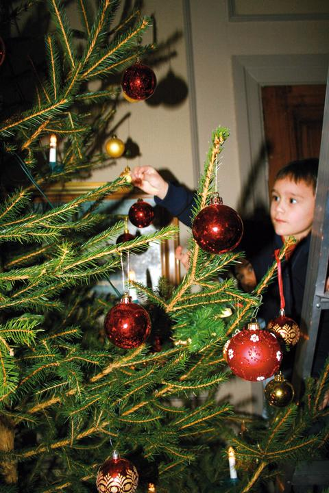 Julfirande i herrgårdsmiljö