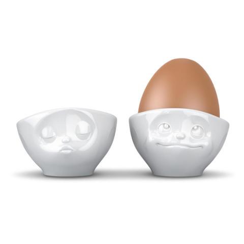 Äggkoppar med ansikte (2-pack)