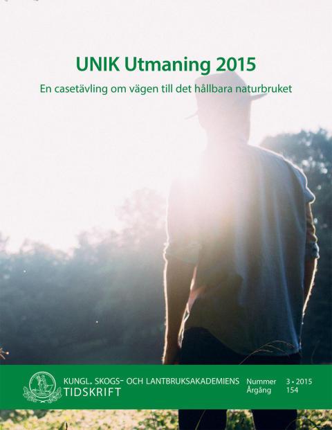 Ny skrift: UNIK Utmaning 2015 (KSLAT 3-2015)