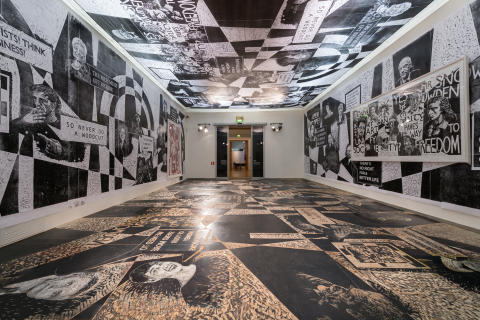 Impressions. Five Centuries of Woodcuts. The Thomas Kilpper room. Installation photo.