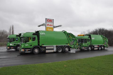 Scania leverer gaslastbiler til renovationskørsel i København