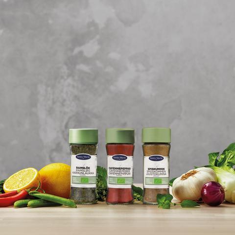 Santa Maria udvider det økologiske krydderisortiment med tre nye varianter