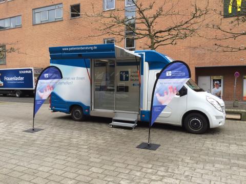 Beratungsmobil der Unabhängigen Patientenberatung kommt am 4. April nach Wilhelmshaven.