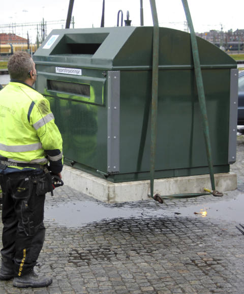 Återvinningsstationen i Vallås har stängts på grund av ombyggnation
