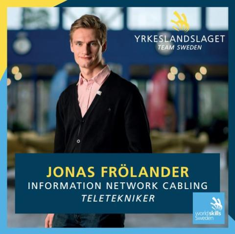 ​Jonas Frölander i Worldskills Competition 2015