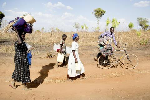 Sydsudanesiske flygtninge i Uganda