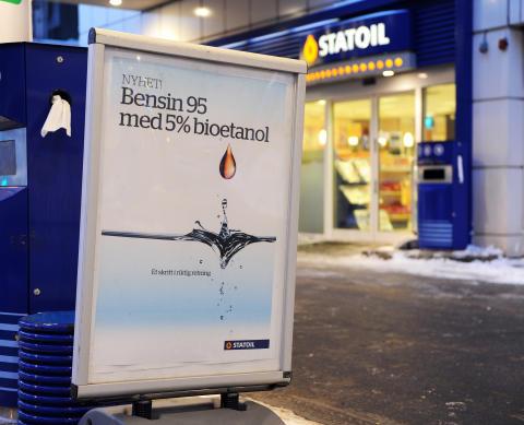 Statoil lanserer nytt biodrivstoff i Norge