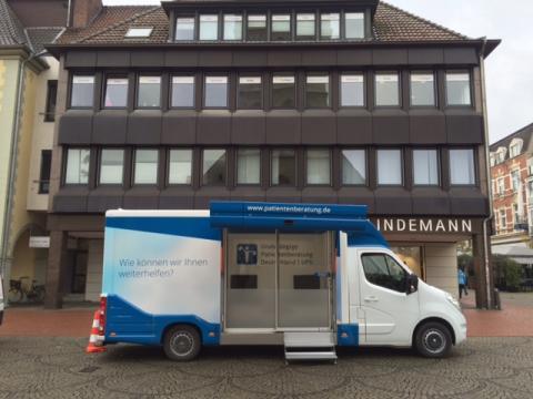 Beratungsmobil der Unabhängigen Patientenberatung kommt am 23. Januar nach Hamm.