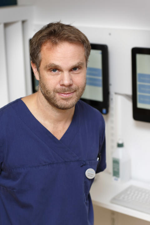 Jonas Persson, läkare och verksamhetschef Trädgårdstorgets vårdcentral