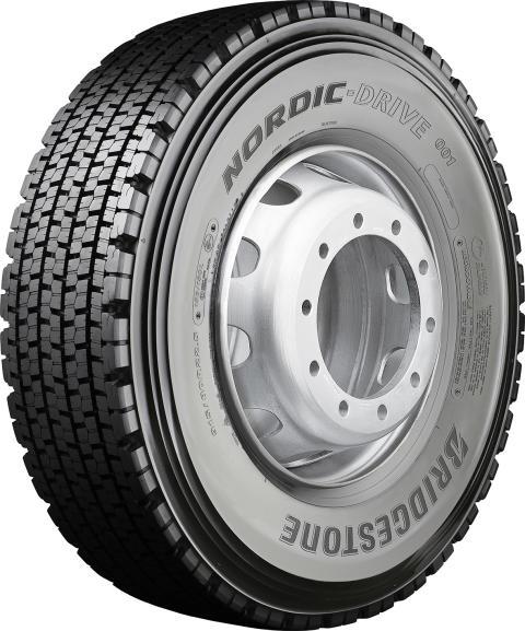 Bridgestonelta uusi kuorma-auton NORDIC-DRIVE 001  talvirengas