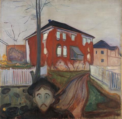 Edvard Munch, Red Virgina Creeper 1898-1900