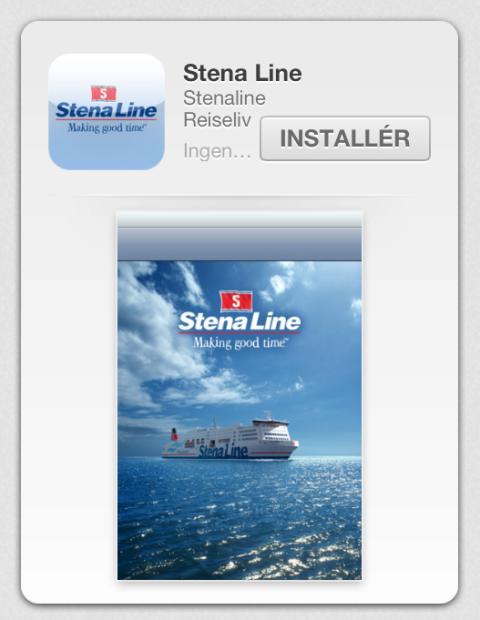 Stena Line med app for Android og iOS