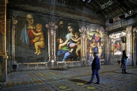 """Blick in die Ausstellung """"Leonardo da Vinci- Raffael- Michelangelo. Giganten der Renaissance"""" (3)"""