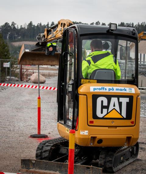 Cat Operator Challenge 2019, Bålsta, minigrävare