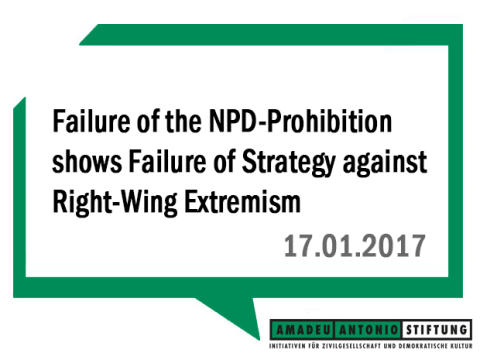 Failure of the NPD-Prohibition shows Failure of Strategy against Right-Wing Extremism
