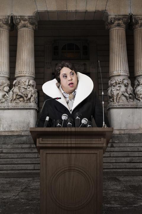 Statsministern, från utställningen Ikoner - en utställning om att få finnas. Foto: Emma Svensson