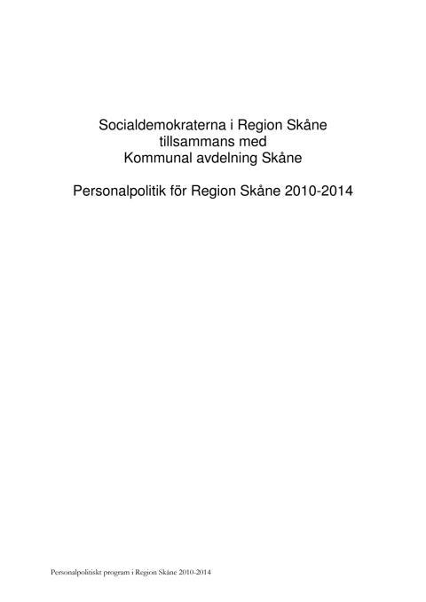 Personalpolitiska programmet 2010-2014