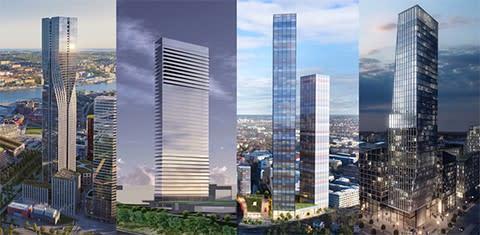 Dreem Arkitekter topp 5 på lista över de högsta planerade skraporna