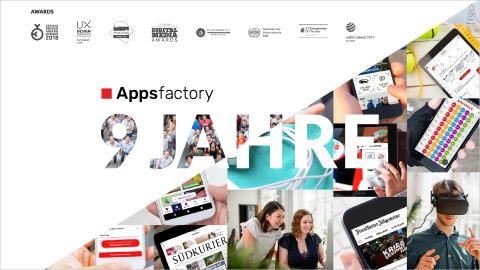 Appsfactory feiert neunjähriges Bestehen mit neuem Logo, mehr als 85 Nummer 1 Apps und über 120 Mitarbeitern