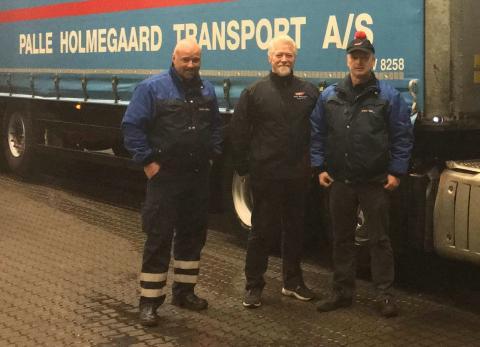 Driver's Leage-vindere, fra venstre: Martin Troels, Gert og Per Rai Obling