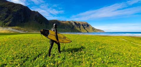 Filmprojekt om iskold nordisk surfing sammen med Samsung
