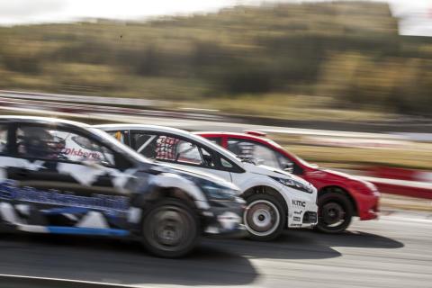 RallyX Nordic 01 2017 DA.jpg. Sex tävlingar i tre länder – Sverige, Norge och Danmark – väntar förarna i RallyX Nordic 2017. Deltävlingarna i Sverige avgörs i Arvika, Stockholm, Götene och Strängnäs.