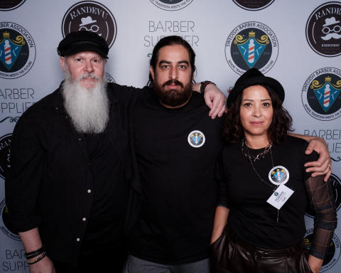 Domare i Årets barberare 2019 - Kenneth Johnsson, Amin Iranmanesh och Cari Forsgren