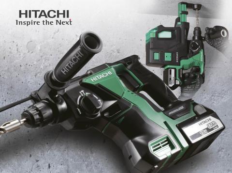 NYHET! Batteridrevne kombihammere fra Hitachi med vedlikeholdsfri børsteløs motor og effektivt støvavsug