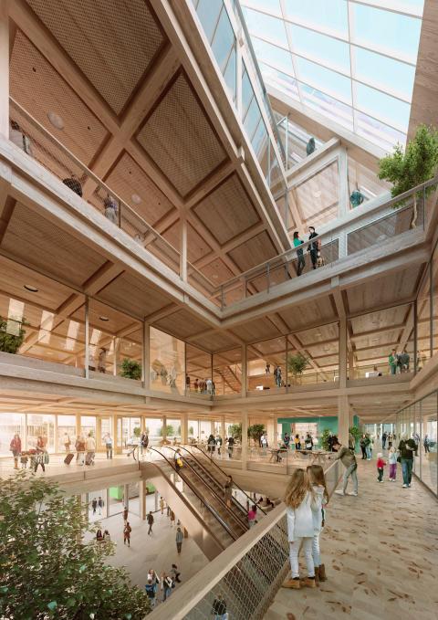 """Växjös vardagsrum"". Bild: White arkitekter"