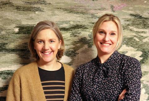 Miljöminister Karolina Skog (MP) och Snårets programledare Emma Jonsteg