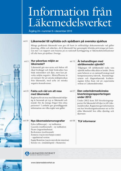 Information från Läkemedelsverket nr 6 2013