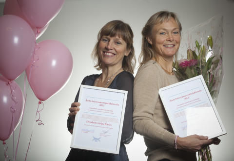 Årets Bröstsjuksköterska 2012 – Elisabeth Stolpe Rados och Eva Alm från Västmanlands sjukhus i Västerås